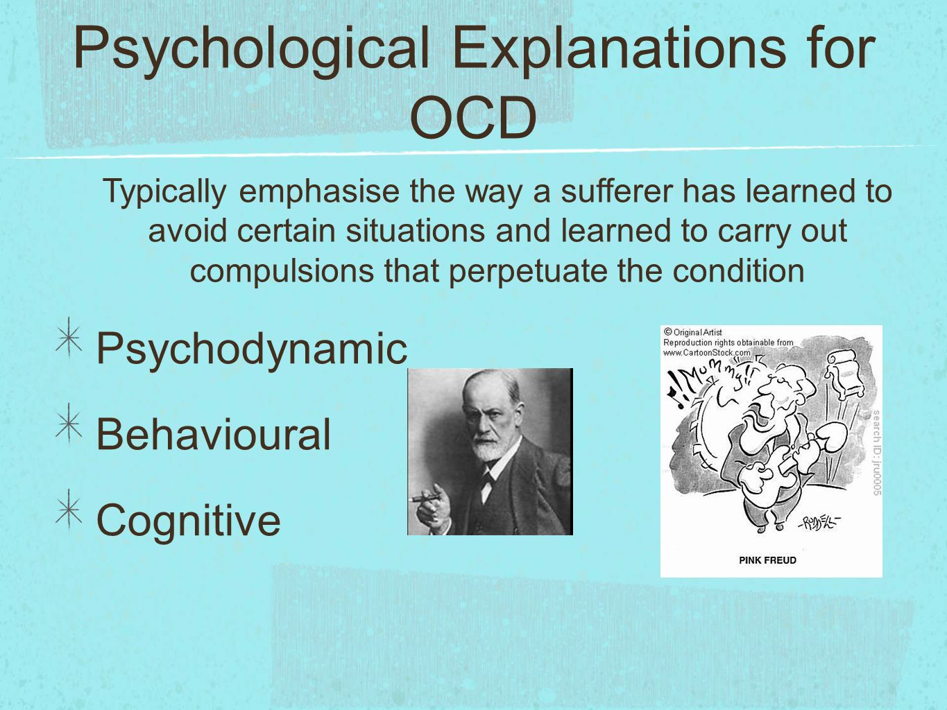 outline and evaluate psychological explanations for ocd essay Outline and evaluate psychological explanations for ocd (8+16 marks) one psychological explanation for ocd is the behavioural approach the behavioural approach breaks obsessions and.