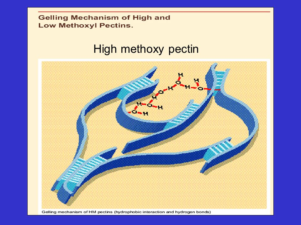 High methoxy pectin