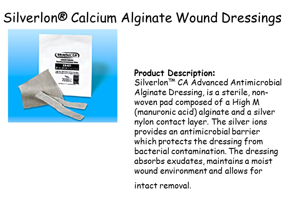 Silverlon® Calcium Alginate Wound Dressings
