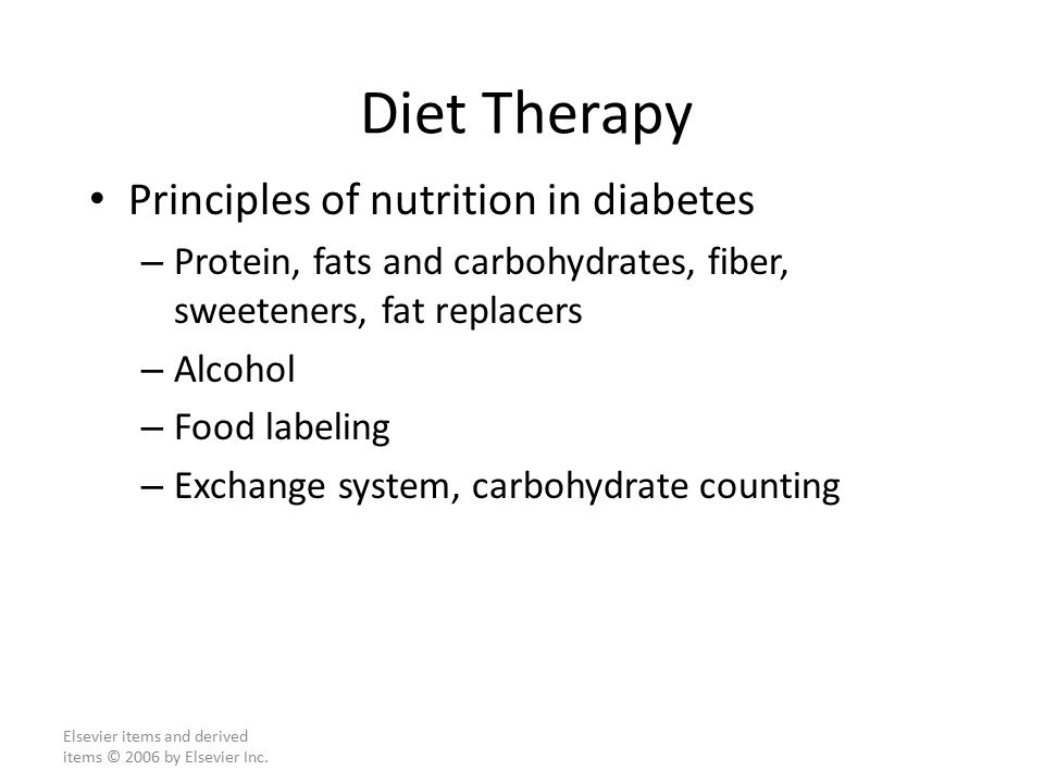 Principles Of Diet For Diabetes 2018