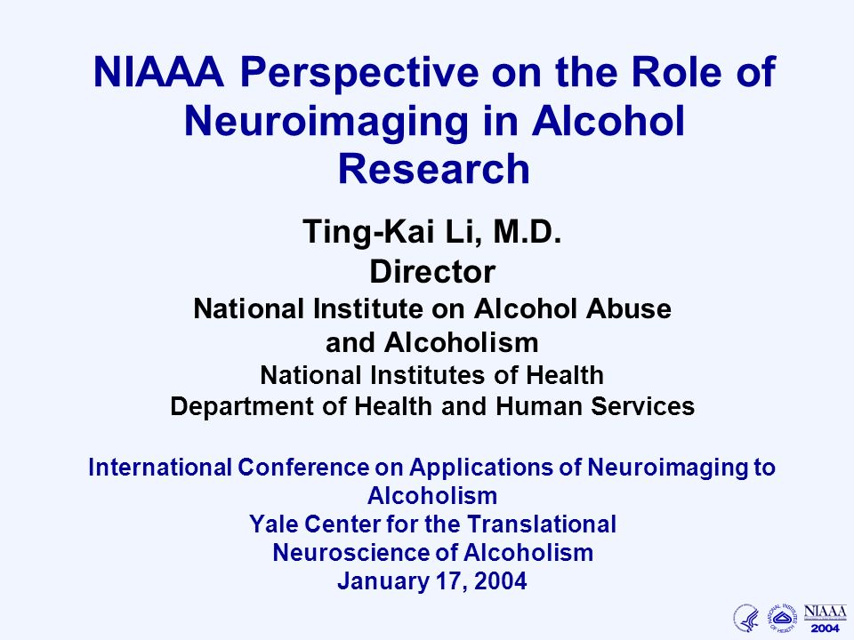 perspectives on alcoholism Chapter 2 - perspectives on the neuroscience of alcohol from the national institute on alcohol abuse and alcoholism.