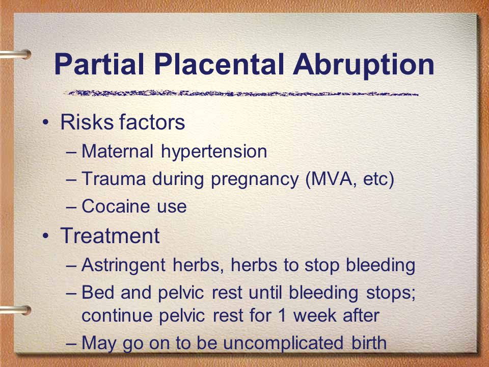 how to avoid placental abruption