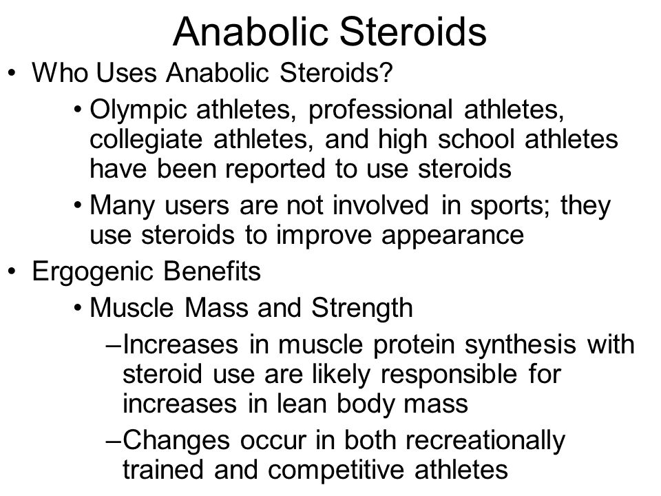An analysis of the use of the steroids in the olympic sports