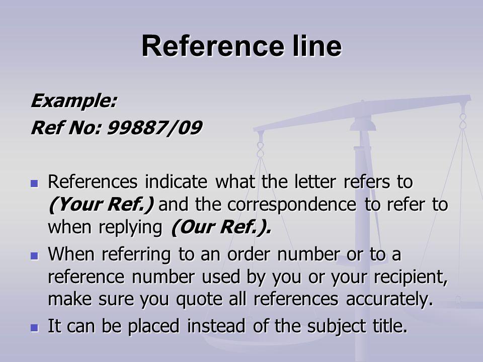 Business letter writing ppt video online download 11 reference spiritdancerdesigns Images