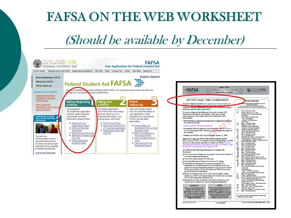 Financial Aid 101  Representative s Name Outreach Representative moreover Free Worksheets Liry   Download and Print Worksheets   Free on as well  furthermore  moreover Fafsa Worksheet Fafsa On The Web Worksheet Spanish Daa likewise  additionally  likewise  additionally 2017 2018 FAFSA on the WEB besides How to Fill out a FAFSA Application Added to our FAFSAExpected together with FAFSA Help Step 8  Parents' Finances   Retirement   Ta moreover 2016 FAFSA Day at CECHS     tyrrell k12 nc us together with WEL E additionally FAFSA Tips  How to Apply for Financial Aid   Video   Lesson moreover Fafsa On The Web Worksheet 2013 14   Livinghealthybulletin also Resources   Federal Student Aid. on fafsa on the web worksheet
