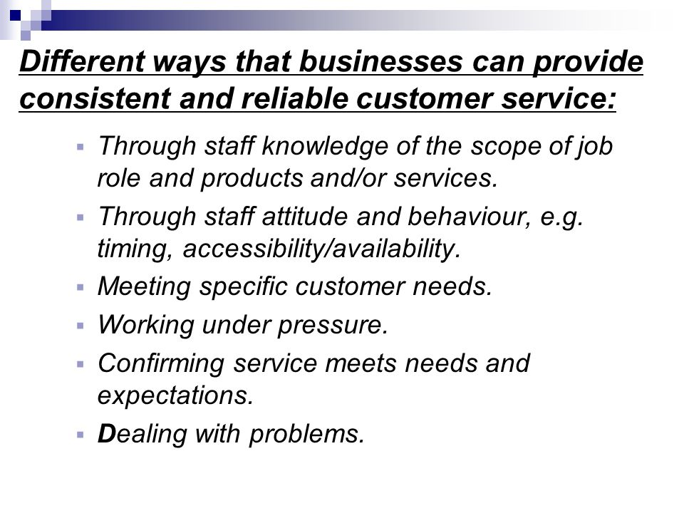 customer meeting need It's hard to meet every need of today's demanding customer, but you certainly can't miss one of these four if you are building a successful business.