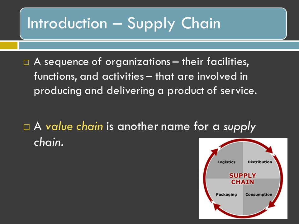 introduction to logistics and supply chain 1 chapter 1 introduction to international logistics book: international logistics: global supply chain management by douglas long slides made by ta-hui yang.
