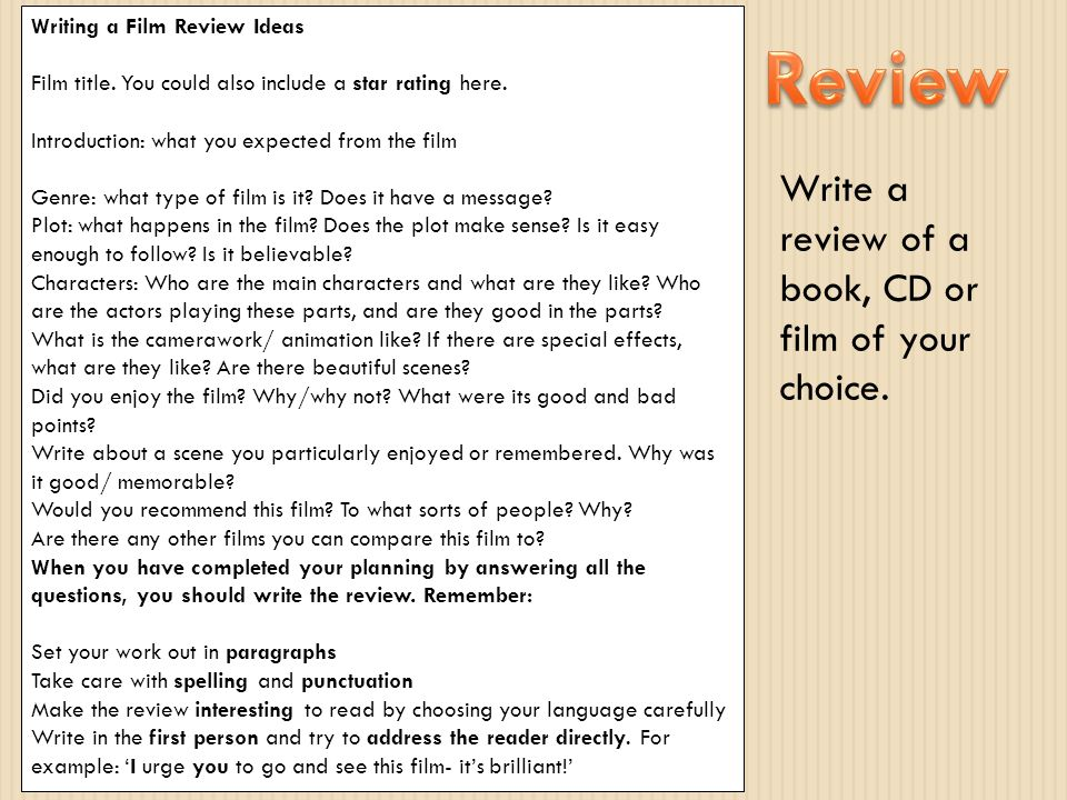 How do you write a review on a book