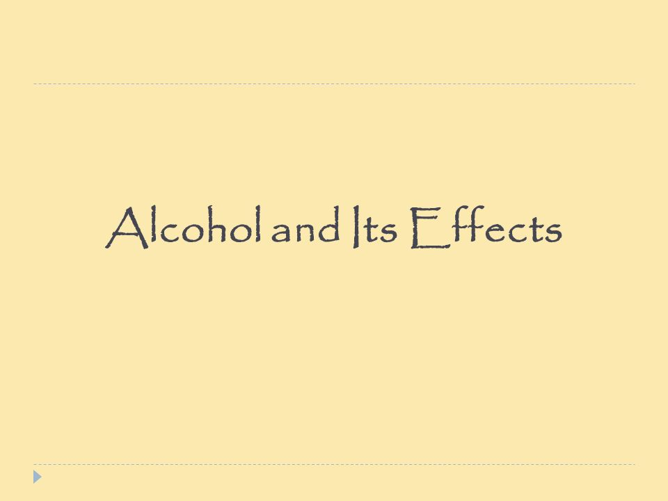 alcoholism and its effects on the To reducing alcohol problems globally and will continue to support its efforts in   that false assumptions about male or female drinking may adversely affect.