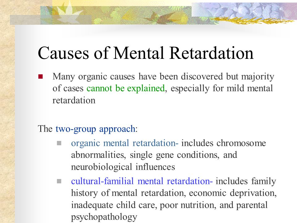 Think, Adult mild mental retardation