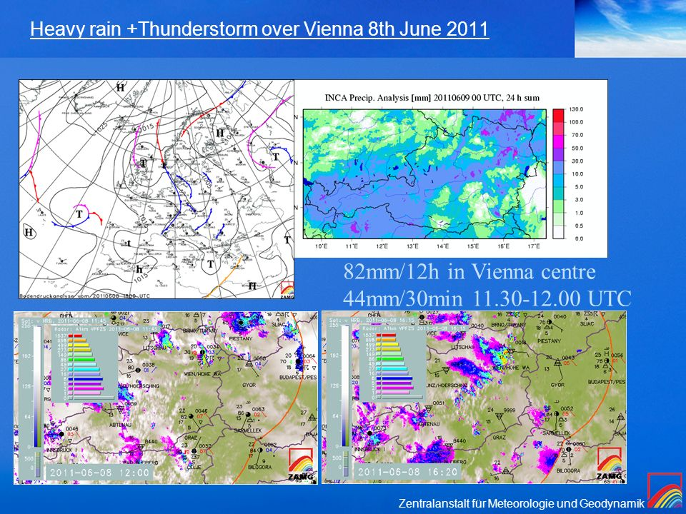 Heavy rain +Thunderstorm over Vienna 8th June 2011