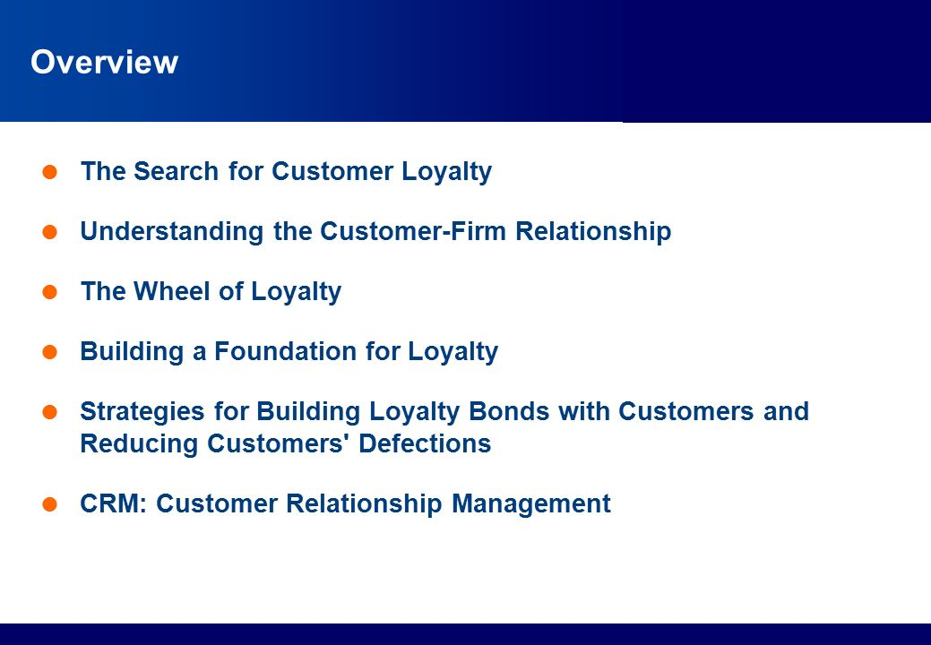 loyalty and customer relationship management in