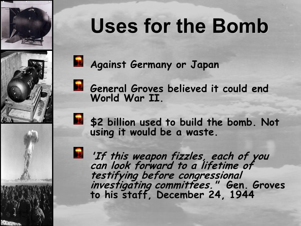 an argument in favor of dropping an atomic bomb on hiroshima and nagasaki by the united states Both of these arguments are plausible but, i think, wrong  bombing hiroshima  and nagasaki didn't win the war i am largely uninterested in whether people  think the united states was morally wrong to bomb hiroshima and nagasaki   days after hiroshima that when he learned it was a nuclear weapon.