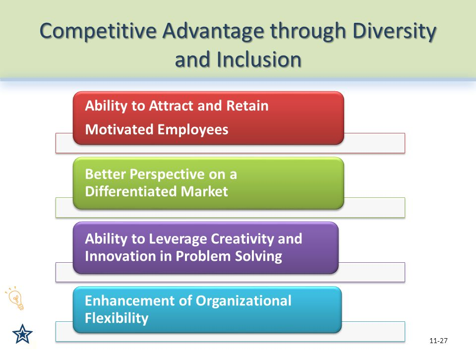 an analysis of the benefits of workforce diversity in organisations Workforce diversity has been identified as one of the strategic capabilities that will add value to the organizations over their competition as singapore is one of the most globally competitive countries, it attracts highly skilled and extremely innovative people to work here.
