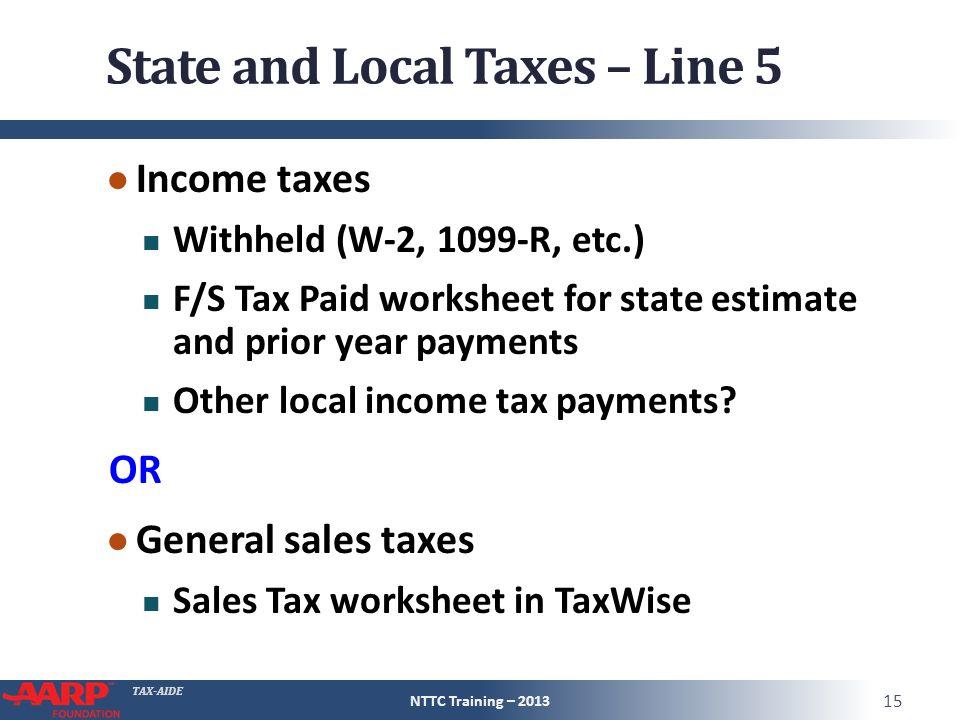 Itemized Deductions Tax Computation ppt download – Sales Tax Worksheet