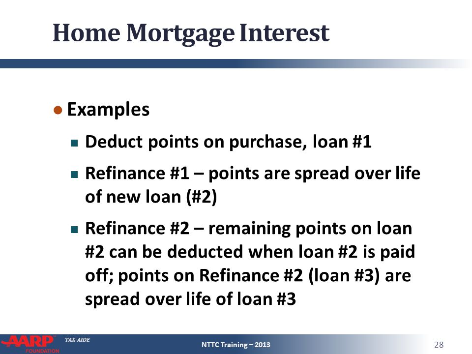 What New Home Loan Fees Can Be Deducted