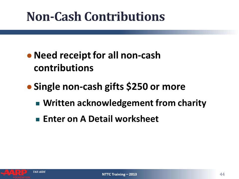 Itemized Deductions Tax Computation ppt download – Non Cash Charitable Contributions Donations Worksheet