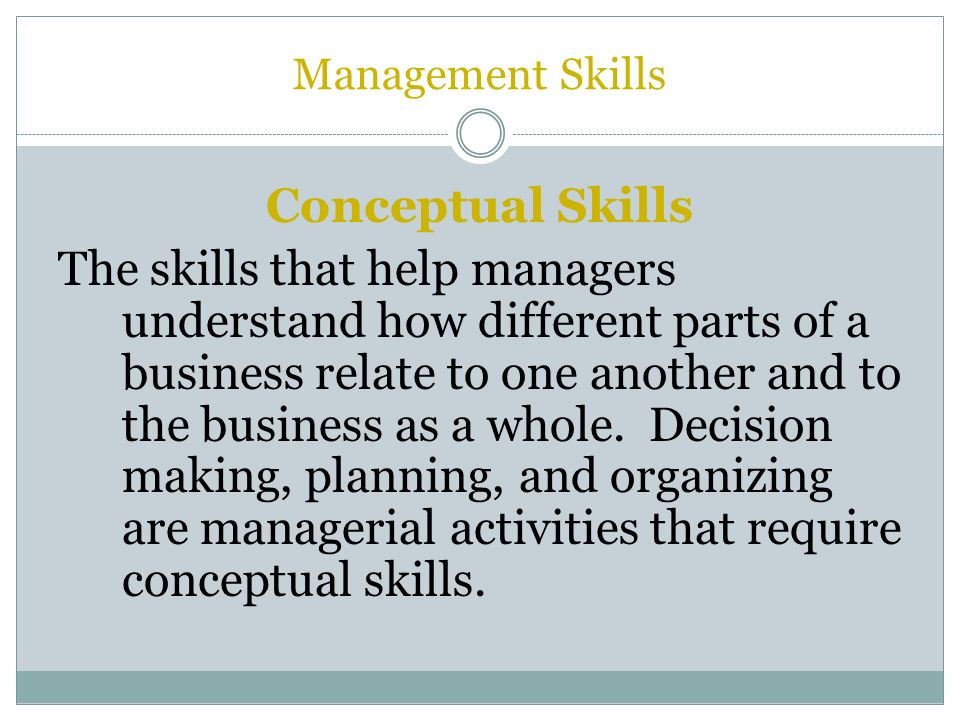 different management skills