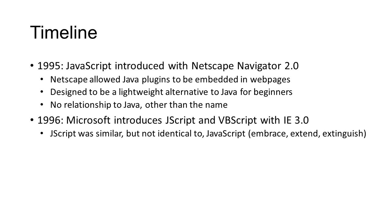 To Enable Disabled In Your Timeline 1995: Javascript Introduced Withscape  Navigator 20 The Gpo