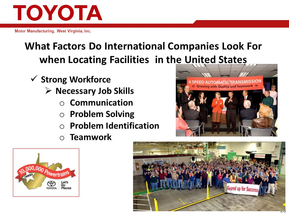 Toyota Motor Manufacturing West Virginia Impremedia Net