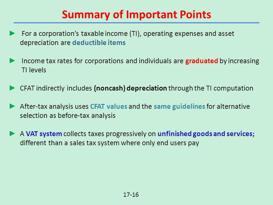 After Tax Economic Analysis Lecture Slides To Accompany Ppt