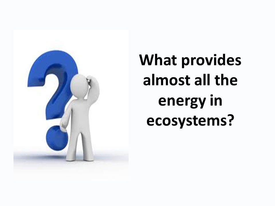 What provides almost all the energy in ecosystems