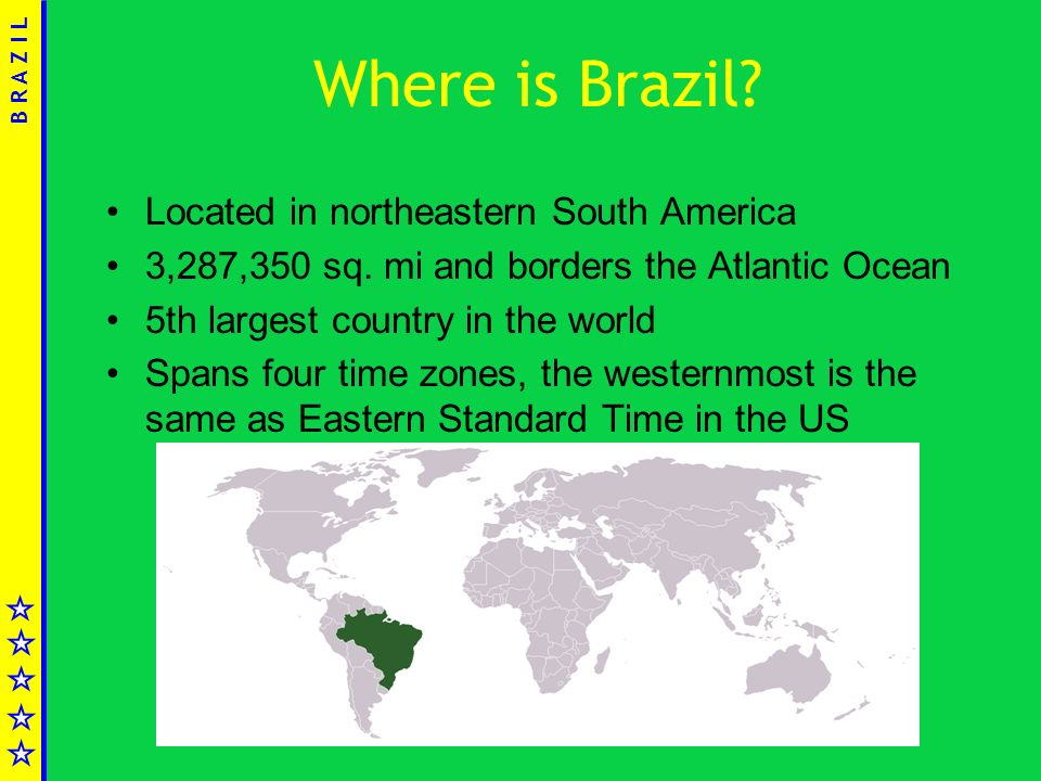 Federative Republic Of Brazil Ppt Video Online Download - Where is brazil located