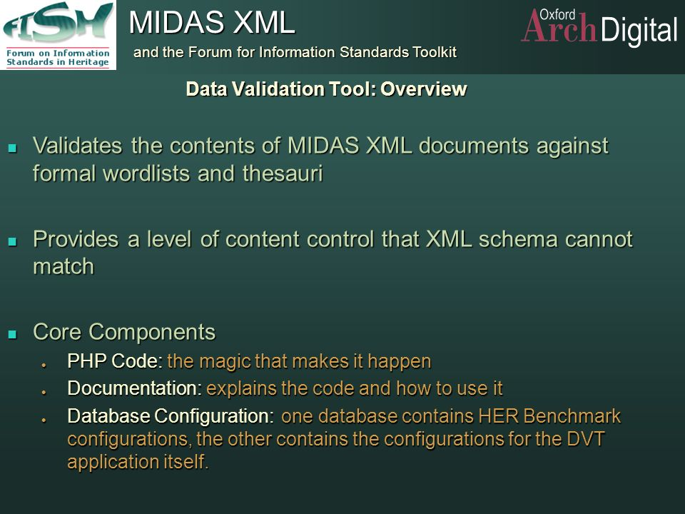 Data Validation Tool: Overview