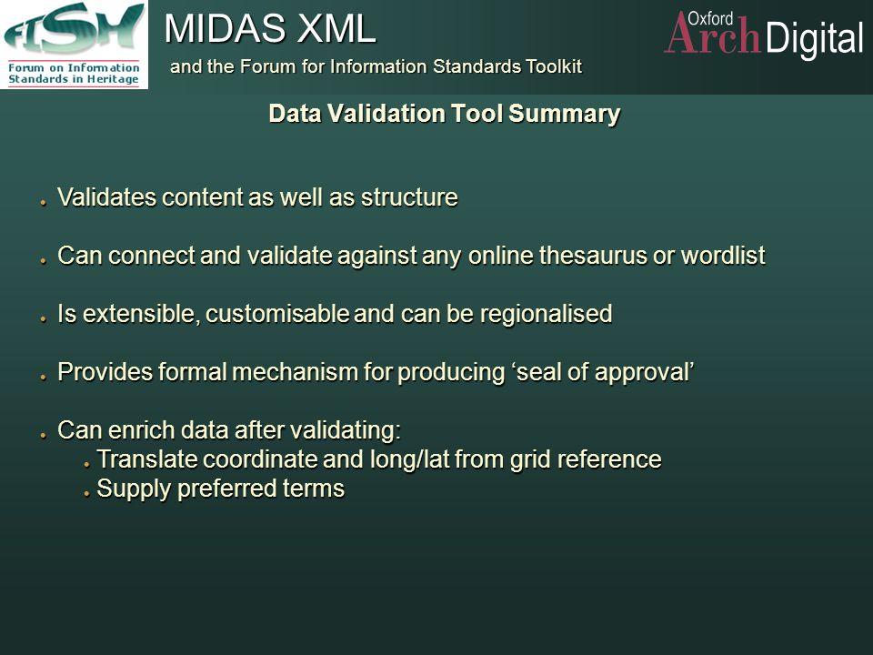 Data Validation Tool Summary