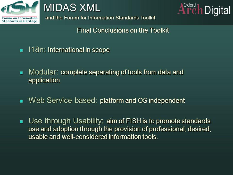 Final Conclusions on the Toolkit
