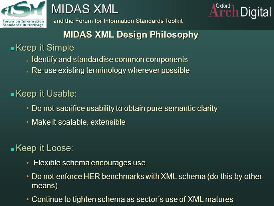 MIDAS XML Design Philosophy