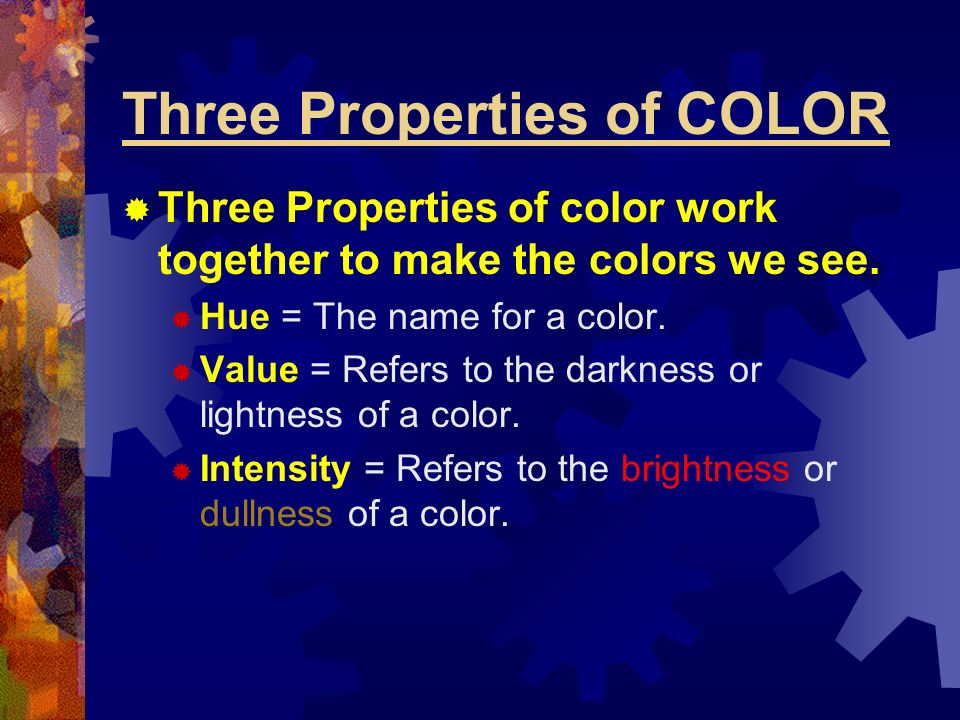 Three Properties of COLOR