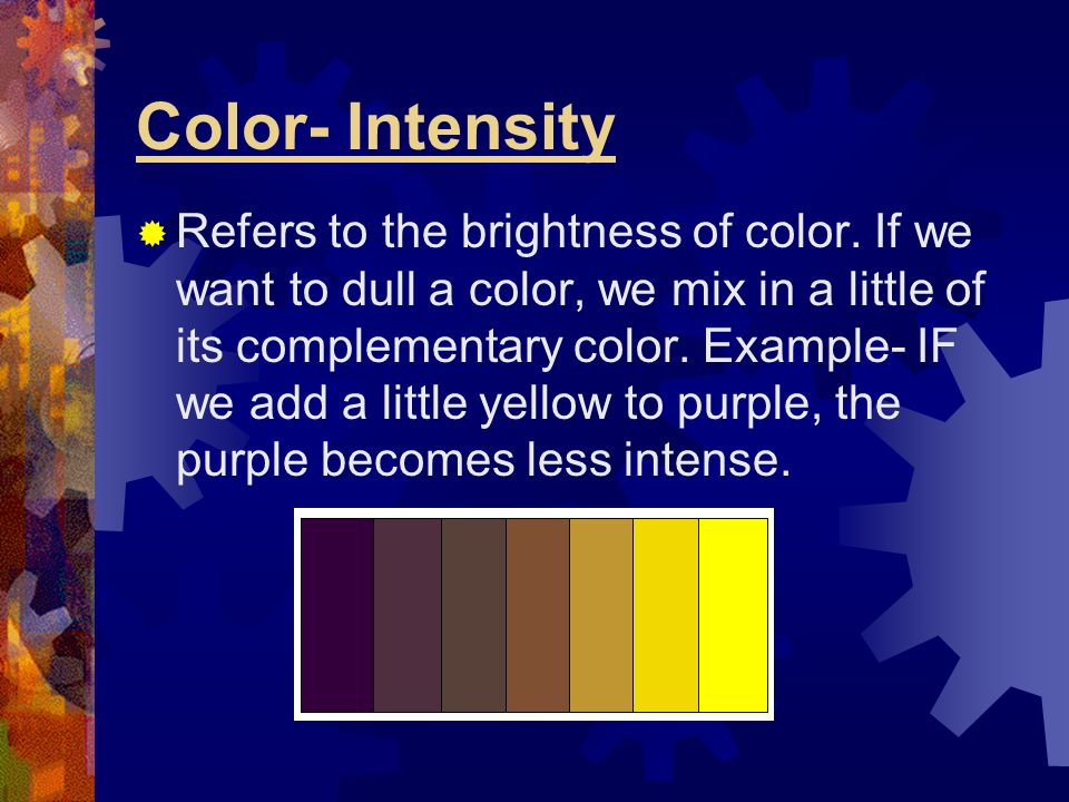 Color- Intensity