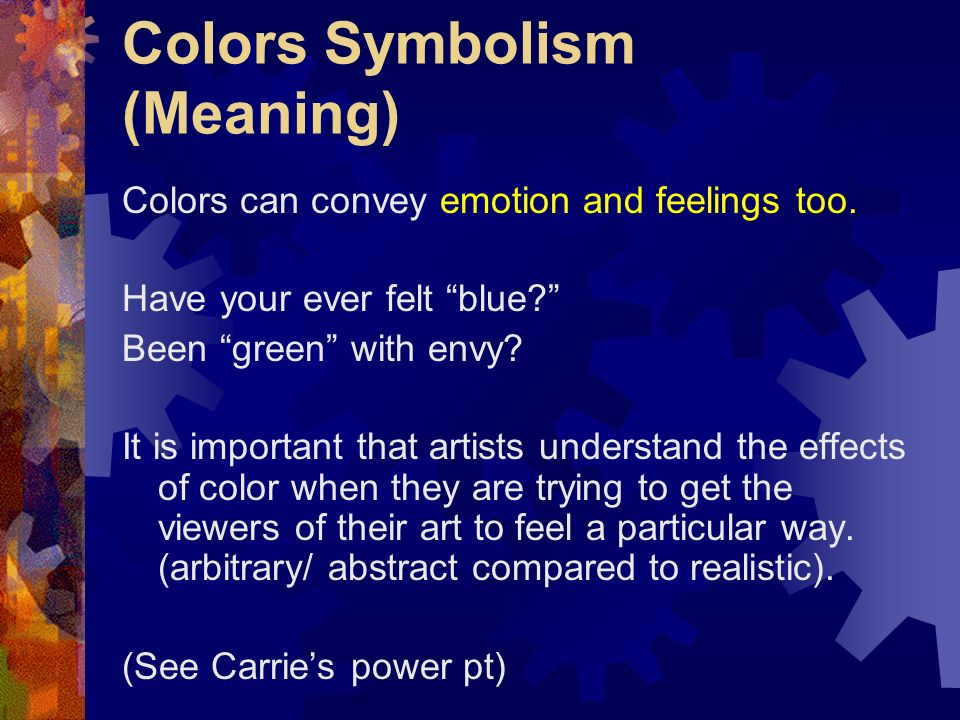 Colors Symbolism (Meaning)