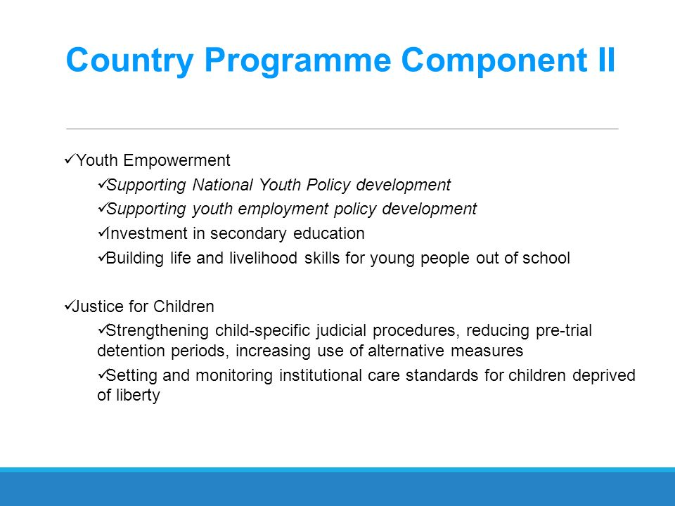 Country Programme Component II