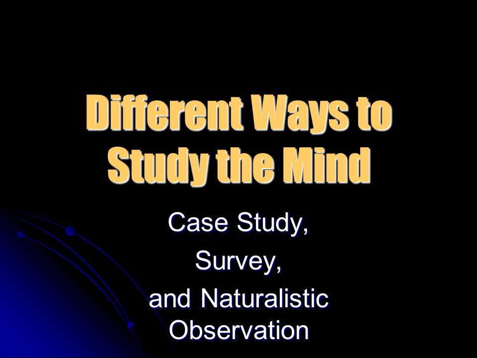 How Psychologists Do Research Deck Research Methods Used in Psych     SlidePlayer