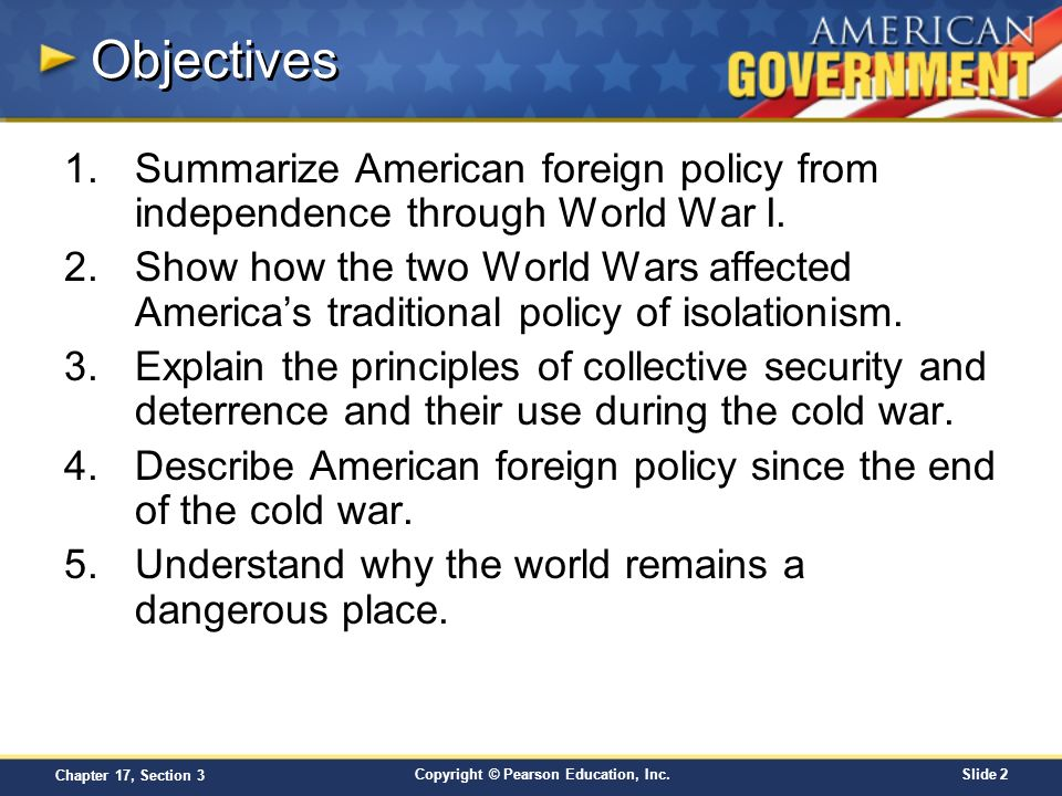 an introduction to the american foreign policy This course is an introduction to united states foreign policy it includes lecture videos, interviews with experts in the fields of government and political science.