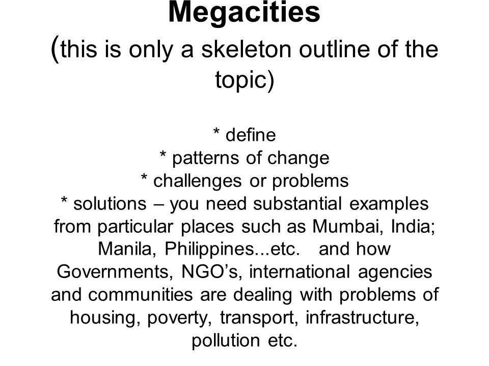 megacity examples