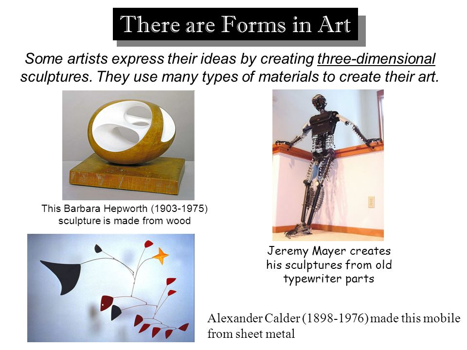 There are Forms in Art