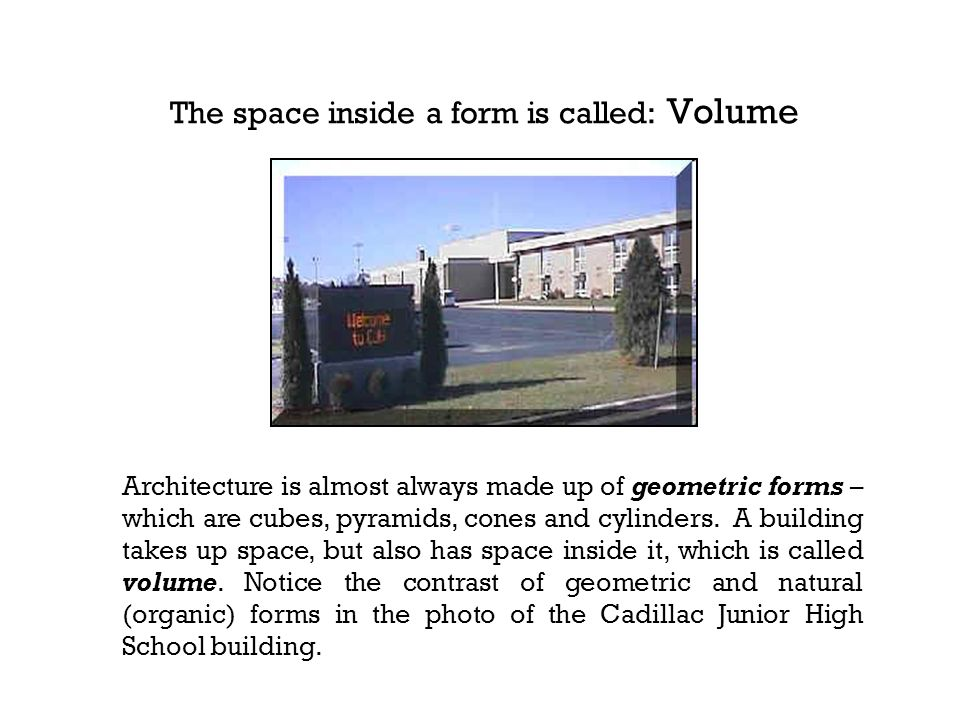 The space inside a form is called: Volume