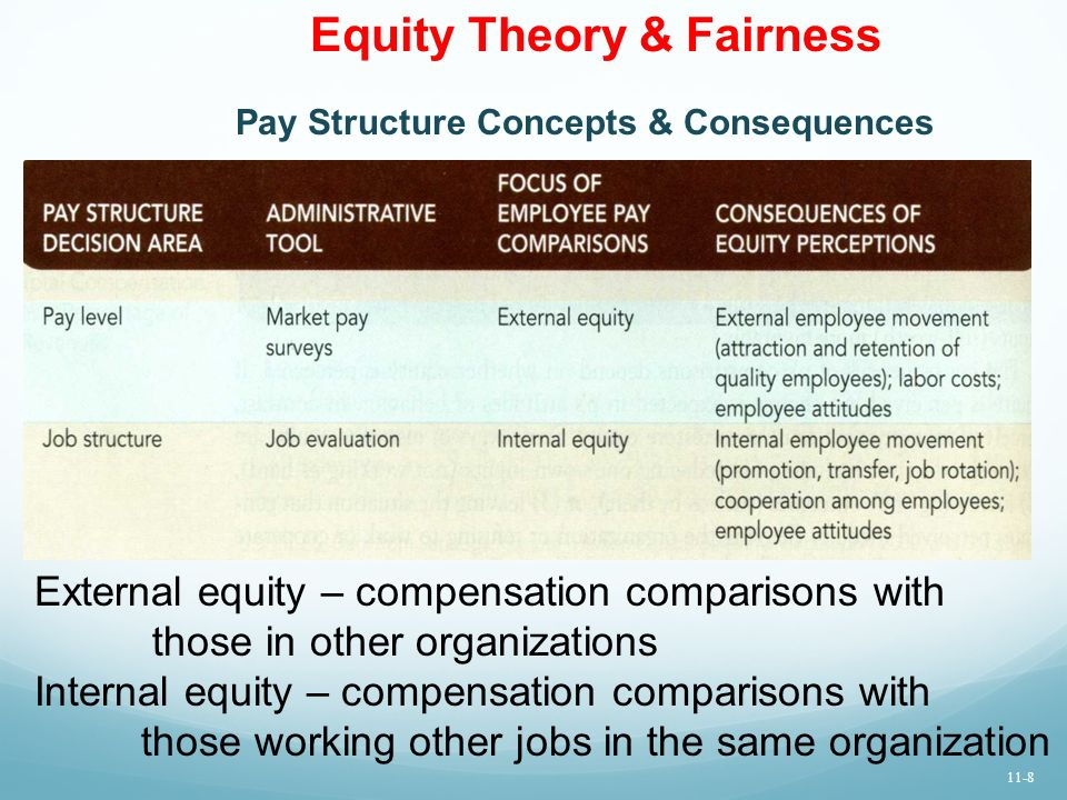 Internal and External Equity Comparison Essay Sample