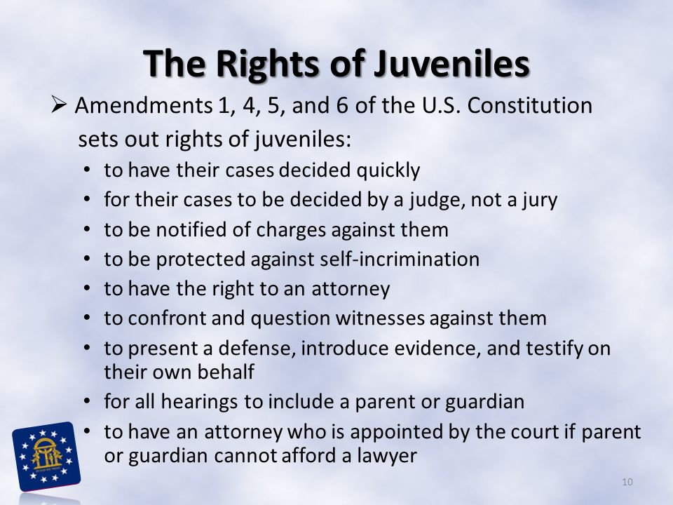 The Rights of Juveniles