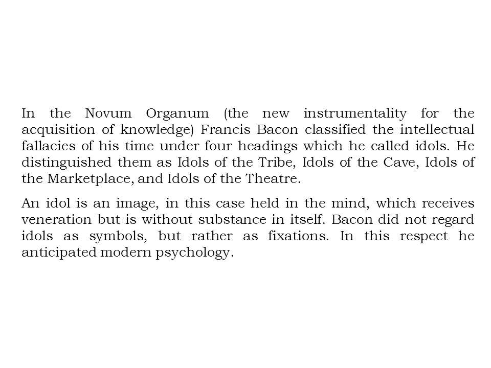 francis bacon idols of the mind pdf