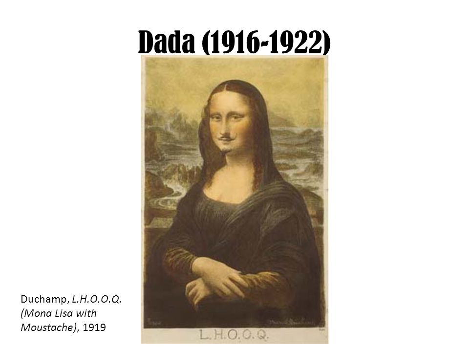 Dada Art Mona Lisa