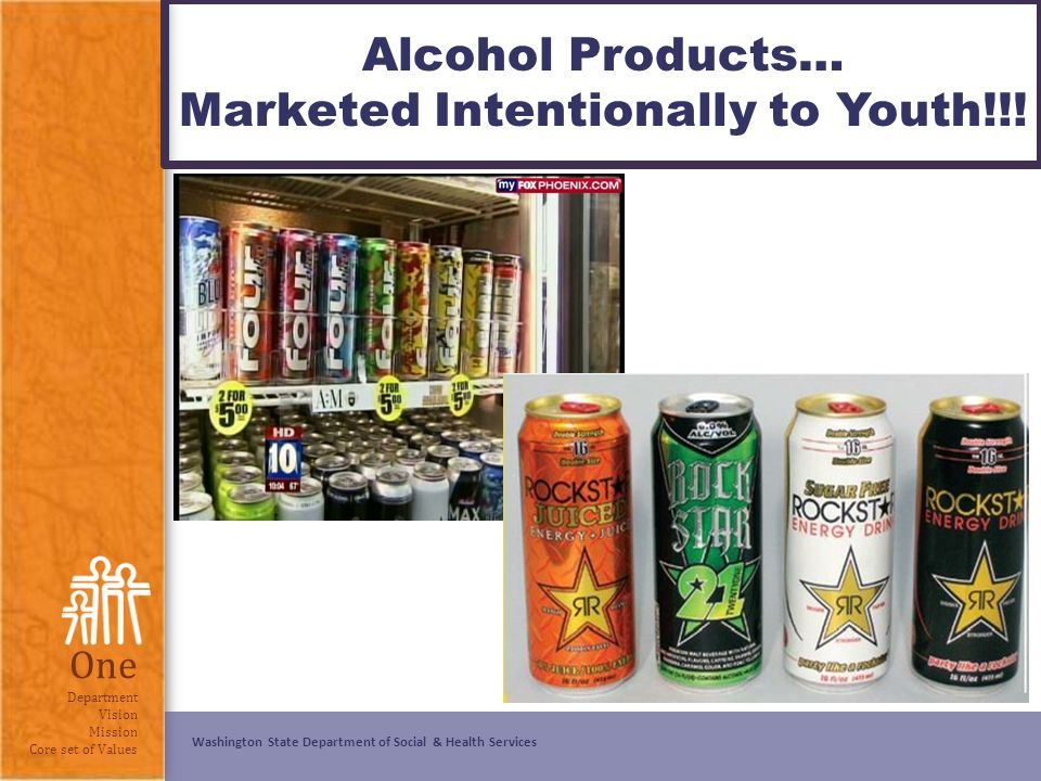 advertising alcohol products Retailers selling tobacco and alcohol products in each community were selected randomly for observation from lists  youth a target of alcohol advertising in.