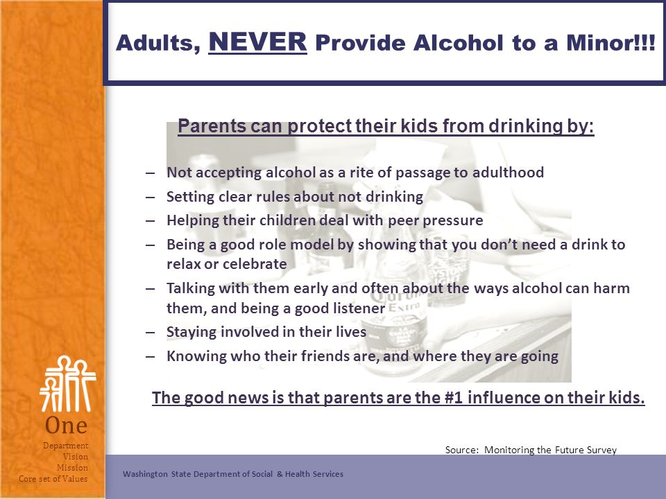 When adults give minors alcohol