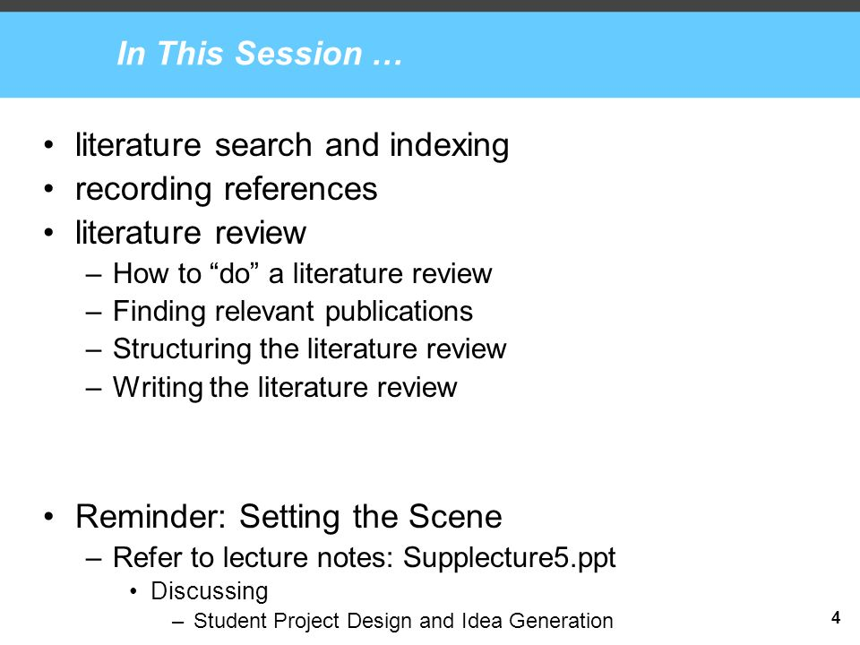 methods of literature review in research ppt