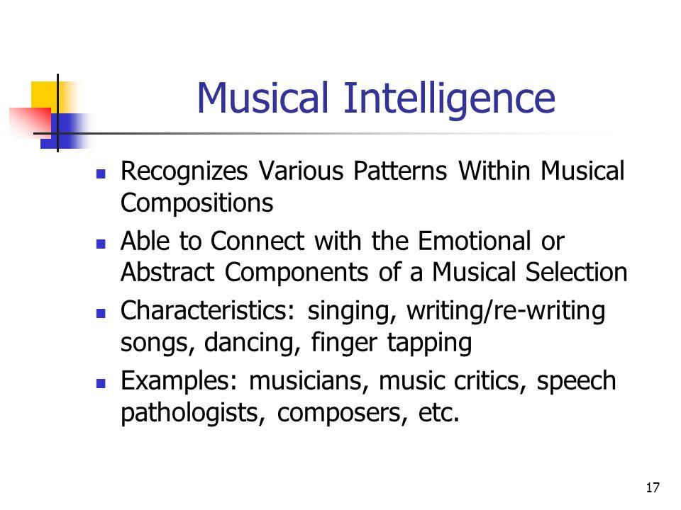 Musical Intelligence Examples Olivero