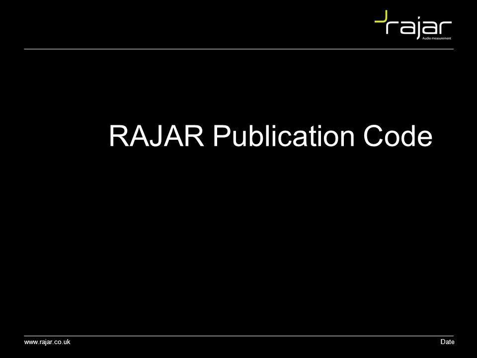 RAJAR Publication Code
