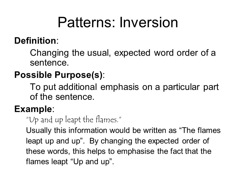Elegant Patterns: Inversion Definition: